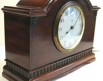 Laing of Glasgow 8 DAY Mahogany Mantel Clock c.1920
