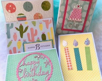 Birthday Cards - Card Set - Handmade Cards - Card Assortment - Greeting Cards - Kids Birthday - Birthday Set - Card Pack - Assorted Cards