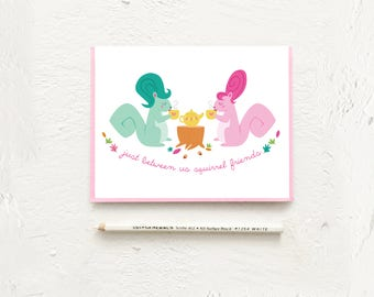 Squirrel Friends, Funny Girlfriend Card, RuPauls Drag Race, Friendship Card, Best Friend Gift, Card For Her, LGBTQ Card