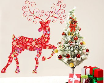 Red Reindeer & Baubles  - AW2011