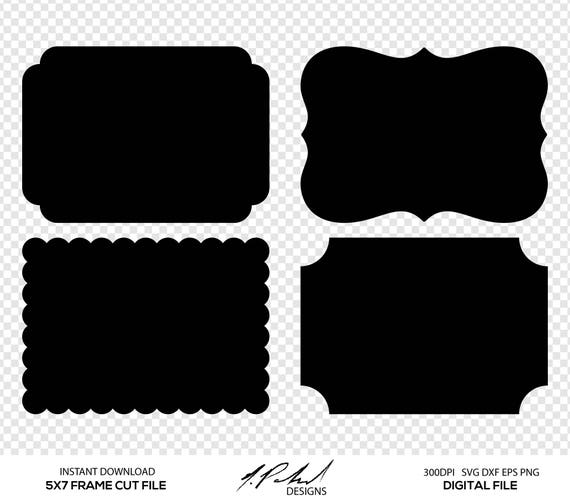 Frame Digital Cut Files - Digital Files - Frame SVG - Frame DXF ...