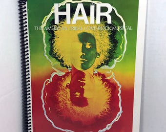 Hair Album Cover Notebook Handmade Spiral Journal - 70's Musical