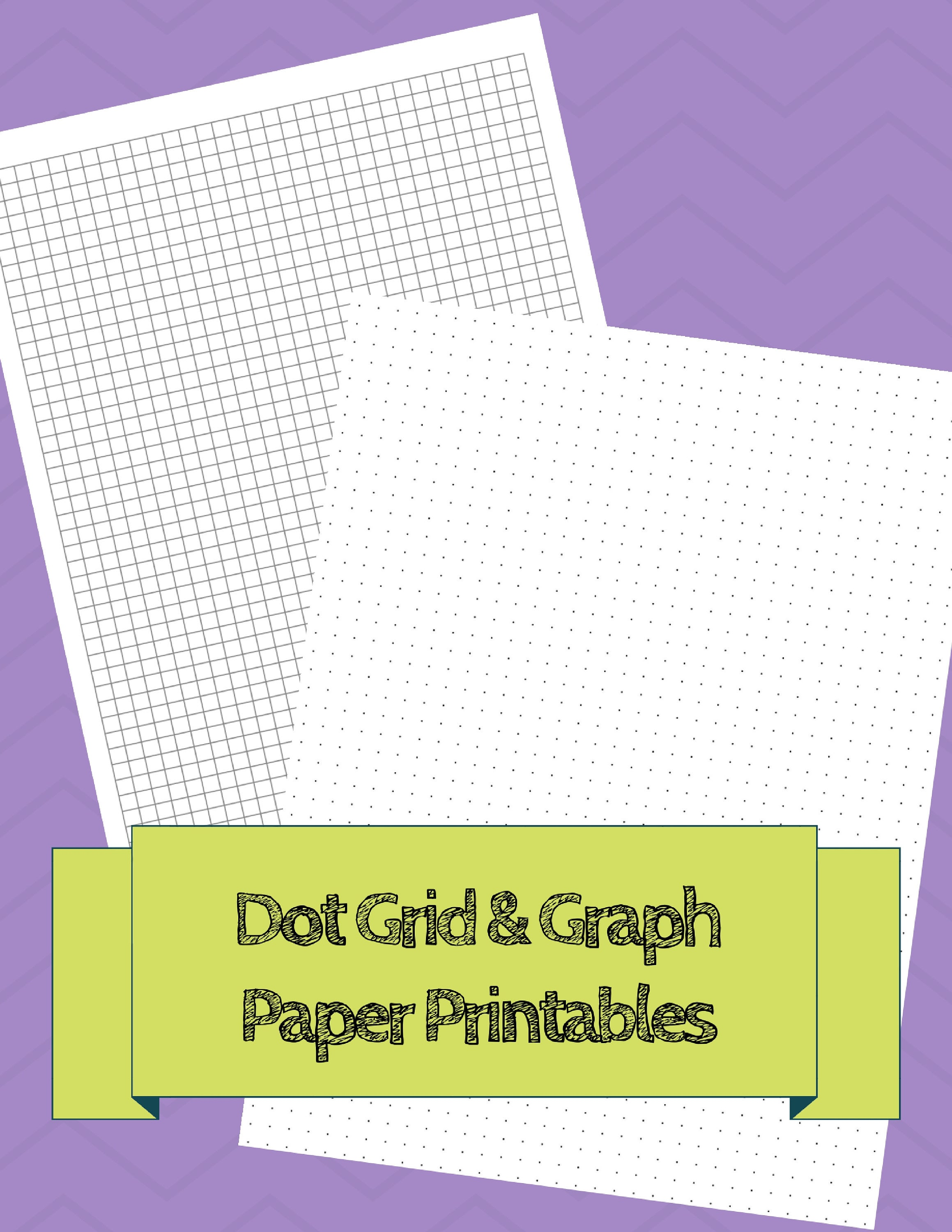 bullet journal dot grid and graph paper printables 2