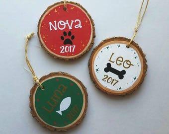 Personalized Pet Ornament, Dog Christmas Ornament, Pet Christmas Ornament, Cat Christmas Ornament, New Puppy Ornament, Pet Keepsake Pet Gift