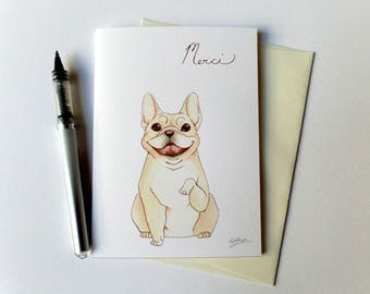 French Bull Dog Thank You Card