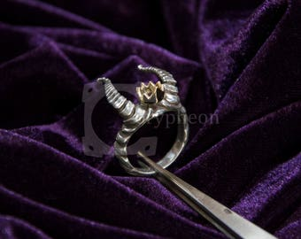 Demon King Ring, 925 Silver and Bronze