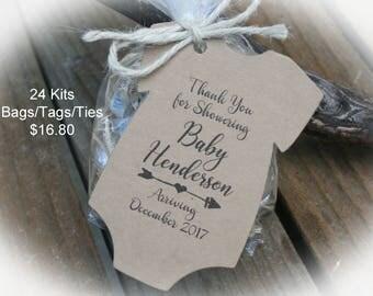 Sweet BABY favors - Baby Shower Favors/DIY Bags/Favor Tags w/Ribbon-Candy Favors- Baby Shower DIY Kits/Baby Shower Favor Ideas- Oft-101Kraft
