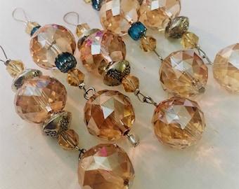 Mini Suncatchers ~ Golden Drops Set of Five