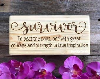 Cancer Survivor, Breast Cancer Awareness, Cancer survivor gift, Cancer gifts, Cancer awareness, Inspirational sign, Breast cancer, Survivor