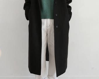 Ann Coat- raglan sleeves wool overcoat (More colours available)