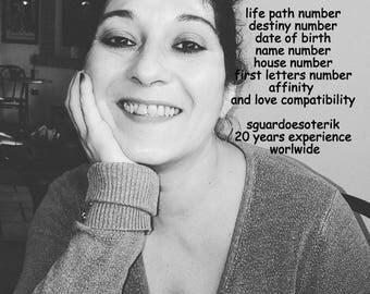 Personlaized numerological analyze, love guidance, numerology, numerological report, pdf file. number analyis, birth date analyisis