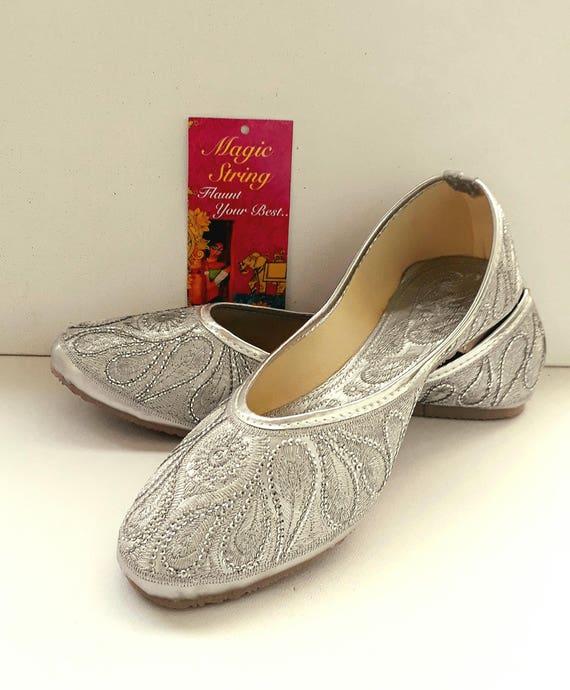 Silver Flats/Wedding Flats/Women Ballet Flats/Women