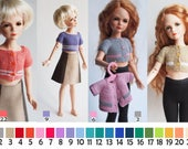 Clothing 13-inch doll, 13-in Doll outfit, Knitted jacket for BJD doll, choice of more than 20 colors, sweater doll 35 cm, jacket Minifee