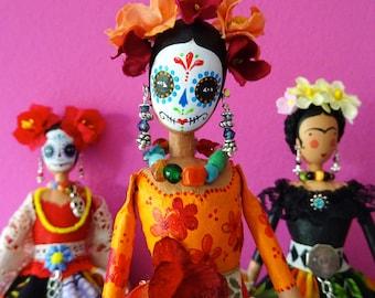 Day of the Dead Doll, Collector's Doll, Dias de los Muertos, Sugar Skull Artdoll