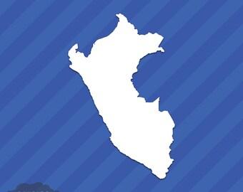 Peru State Outline Vinyl Decal Sticker