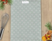 Sage Green Ditsy Floral Linen Union Tea Towel