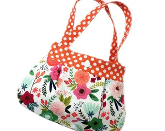 Floral print little girls purse toddler purse kids purse girl birthday gift toddler gift child purse for little girl