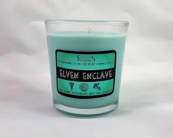Elven Enclave -- Fantasy Inspired 8 oz Scented Soy Candle