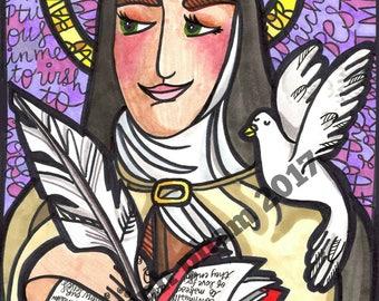 Saint Teresa Avila:  The Mystic in Purple