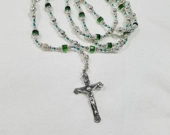Solid Sterling silver rosary