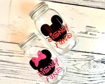 Vacation Fund Bank, Disney Trip Bank, Disney Vacation, Personalized Bank, Glass Mason Jar Bank, Personalized Gift, Custom Bank, Custom Gift