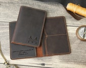 Personalized Passport Holder, Passport Cover, Leather Anniversary Gift, Travel Wallet, Passport Wallet- Free Engraving