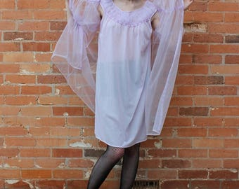 Sexy Canadian Vintage Two Piece Negligee Bed Set