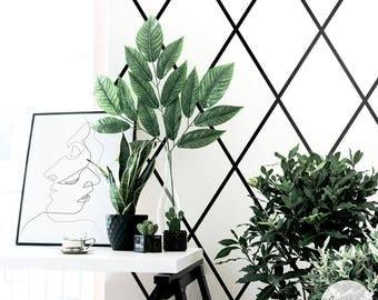 Minimal Removable wallpaper / Geometric Wallpaper / Traditional or Self Adhesive Wallpaper