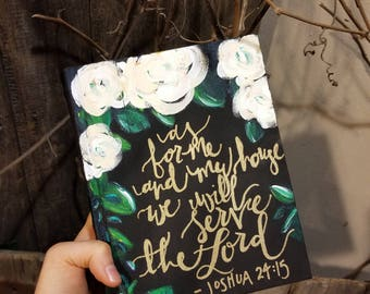 Floral Hand Painted Bible - ESV Journaling Bible - Hand Painted Bible