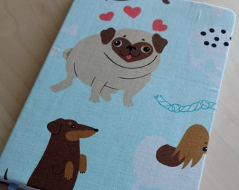 Dog Lover Notebook Journal featuring Cute Pugs, Dachshunds, and Terrriers