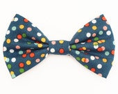 The Voorhies Bow Tie — Dog Bowtie, Brooklyn Bowtied, Confetti, Polka Dots, Multicolor, Birthday, Rainbow, Celebration, Outfit, Collar