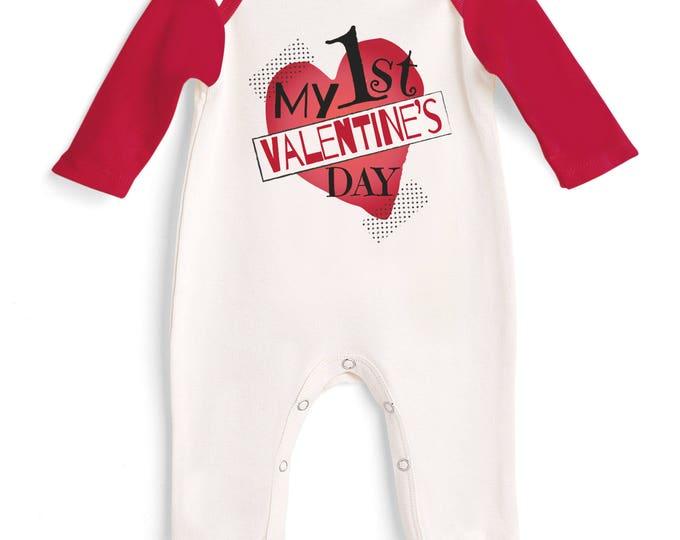 Baby Boy My First Valentines Romper, Newborn Boy Valentine Bodysuit, Infant Boy Valentine Onesie, 1st Valentines Baby Romper Tesababe