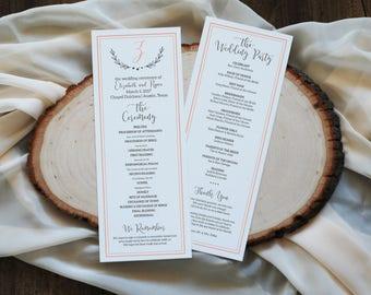diy wedding program templates