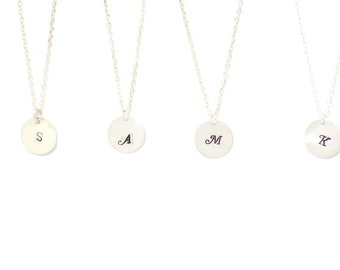 Sterling silver Initial necklace, Personalized jewelry, necklace, personalized necklace, bridesmaid gift, silver necklace, monogram jewelry