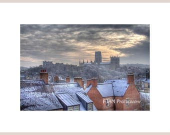 "16"" x 12"" Mounted Print of Durham Cathedral (Print Size 12"" x 8"")"