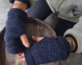 Men handwarmers, men hand warmers, men mittens, men fingerless gloves, men knitted fingerless gloves, men fingerless mittens, recycled