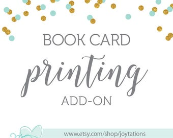 Printed Book Request Card Add-On