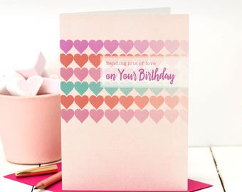 Birthday Card; Birthday Card For Her; Happy Birthday; Pink Birthday Card; Birthday Card For Friend; GC447