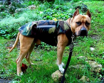 Winter Dog Coat - Camo dog coat - Camouflage Warm Dog Jacket - Custom Dog Raincoat - Waterproof / Fleece Coat - Custom made - MADE TO ORDER