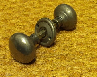 Cottage Bun Cast Iron Vintage Door Knob Set