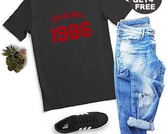32nd Birthday Gifts 1986 Shirt Birthday Ideas Shirt Gifts Ladies Tshirt Birthday Gift Number Shirt Funny Graphic Shirt Men Tshirt Women Tees