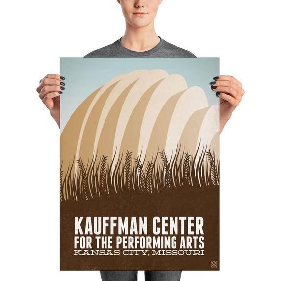 Kauffman Center Matte Litho Print