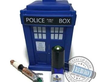 "Sonic Scent - DALEK SOUFFLE - ""Dalek Clara"" Doctor Who Inspired Body Scent - Chocolate Orange Fragrance in a Blue Glass Roller Bottle"
