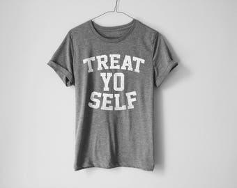 Treat Yo Self Shirt | Treat Yourself Shirt | Parks And Red Shirt | Funny Parks And Recreation Shirt | Leslie Knope Shirt