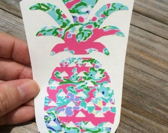 Lilly Pulitzer Pink Pineapple Vinyl Decal, Vinyl Stickers, Southern Charm Pink, Laptop Sticker, Car Decal, Pineapple Sticker