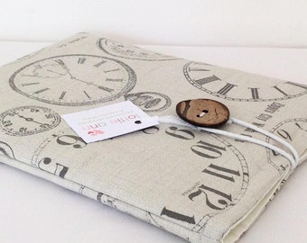 iPad Cover, Vintage Clocks iPad Cover, iPad Cover, iPad Case, Tablet Cover, Fabric iPad Cover, Fabric Tablet Sleeve, Gift
