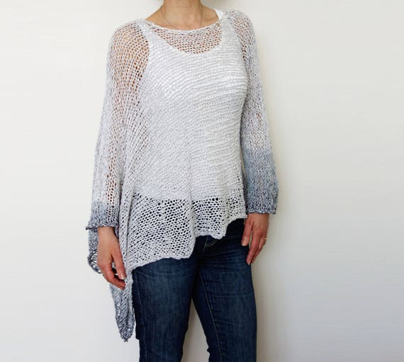 Sweater Knitting Pattern Stowe Asymmetrical Sweater Ombres