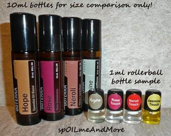 doTERRA Essential Oil TOUCH 1ml Roller bottle Sample Mini Travel Kit Lot JASMINE Rose NEROLI Hope