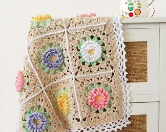 Floral blanket PDF pattern/Floral baby blanket/English Garden Baby Blanket pdf pattern /Floral  pattern pdf/PDF crochet pattern/PDF crochet