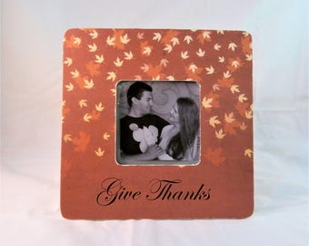 Fall Decorations, Give thanks thanksgiving decor host hostess gift picture frame